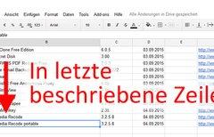Excel: In letzte beschriebene...