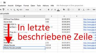 Excel: In letzte beschriebene Zeile springen – So geht's per Tastenkombination