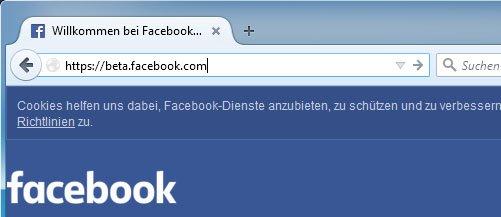 """Ersetzt das """"www"""" durch """"beta"""", um euch in Facebook einzuloggen."""