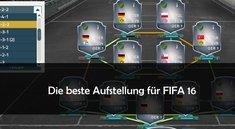 FIFA 16: die beste Aufstellung und Taktik