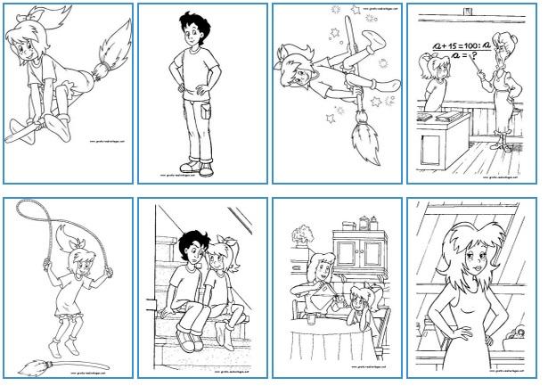 Bibi und Tina: Ausmalbilder und Malvorlagen zum Herunterladen und