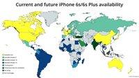 iPhone 6s erobert die Welt: Karte zeigt weltweite Verfügbarkeit