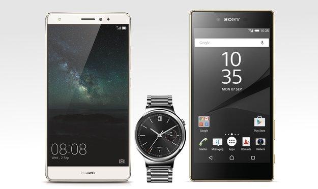 IFA-Neuheiten vorbestellen: Sony Xperia Z5-Serie, Huawei Mate S, Watch und Co. bereits gelistet