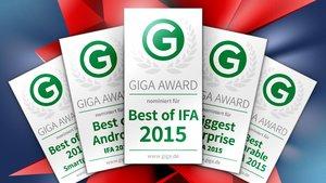 IFA 2015: Das sind die Gewinner der GIGA-Awards