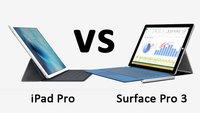 iPad Pro vs. Surface Pro 3 – Daten im Vergleich