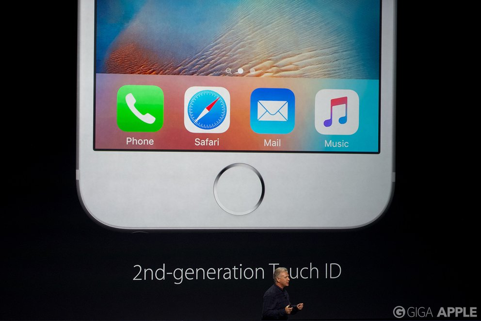 iPhone 6s und iPhone 6s Plus mit Touch ID der 2. Generation. Foto: giga.de