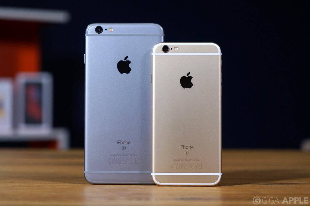 iPhone 6s Plus in Spacegrau und iPhone 6s in Gold