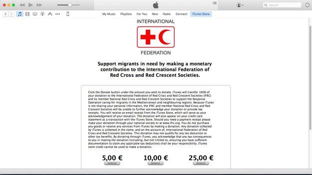 Apple sammelt im iTunes Store für Flüchtlingshilfe durchs Rote Kreuz