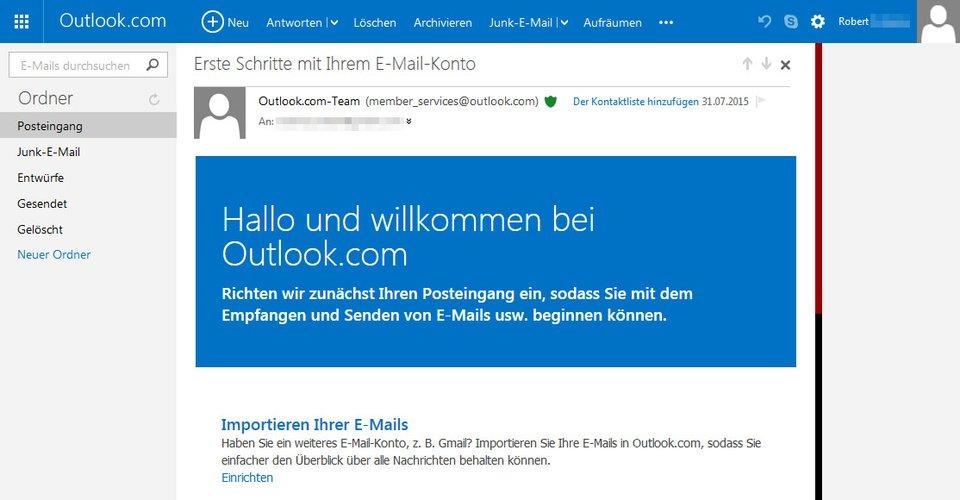Bei Problemen mit Outlook könnt ihr E-Mails vorübergehend auch auf Outlook.com checken und senden.