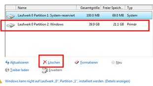 Partition löschen – so geht's in Windows