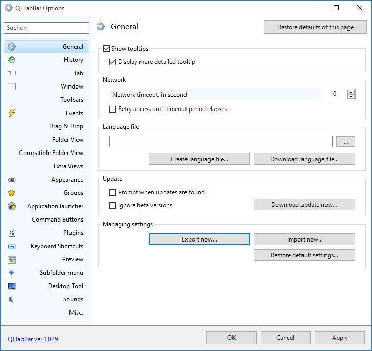 Ihr könnt das Tool QTTabBar sehr umfangreich einstellen.