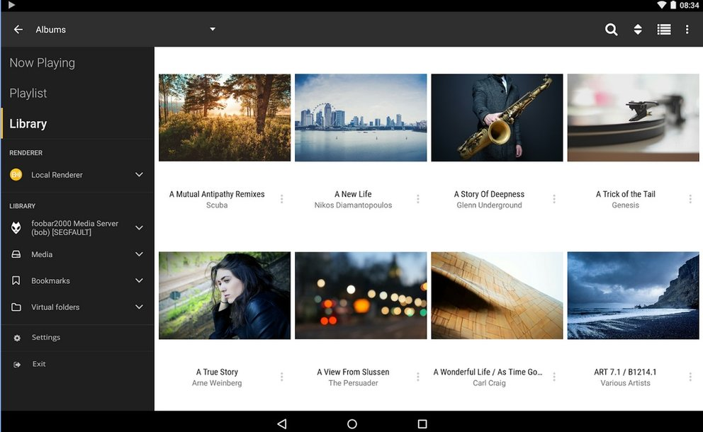 Kodi auf Chromecast geht das? nur mit apps die geld kosten. Screenshot der alternativen app bubbleUPnP