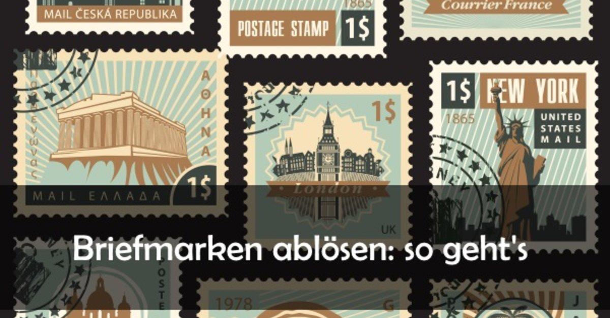 Briefmarke Ablösen