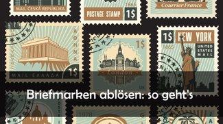 Wie kann man Briefmarken ablösen und trocknen?