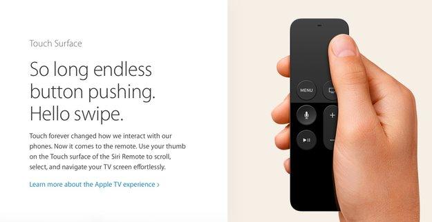 tvOS-Spiele müssen neue Apple-TV-Fernbedienung unterstützen