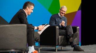 Tim Cook spricht auf Konferenz über Apples Business-Strategie