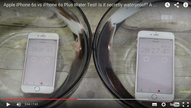 Heimliches Feature:  iPhone 6s soll im Lieferzustand wasserdicht sein