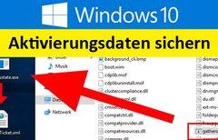 Windows 10: Aktivierungsdaten...