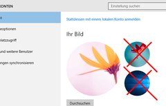 Windows 10: Alte Profilbilder...