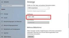 Windows 10: Auflösung ändern – so geht's