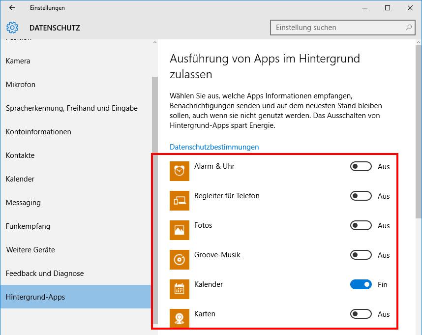 Windows 10 mobile hintergrund apps
