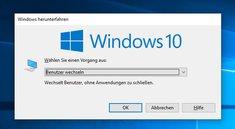 Windows 10: Benutzer wechseln (ohne Abmeldung) – so geht's