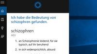Cortana: Wörter und Begriffe erklären lassen – So geht's