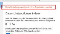 Windows 10: Einige Einstellungen werden von Ihrer Organisation verwaltet – Das könnt ihr tun