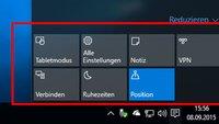 Windows 10: Info-Center anpassen – So geht's