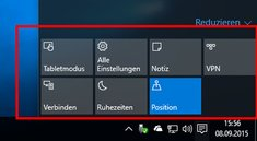 Windows 10: Info-Center anpassen – So geht's