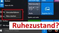 Windows 10: Ruhezustand aktivieren und deaktivieren – so geht's