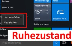 Windows 10: Ruhezustand...