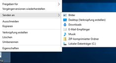 Windows 10: Senden an – So bearbeitet und löscht ihr Menü-Einträge