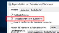 Taskleiste in Windows ausblenden – so geht's