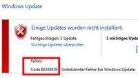 Windows 10: Upgrade-Fehler 80244019 – Lösung