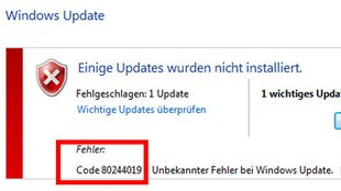 Windows 10: Upgrade-Fehler 80244019 – Lösung