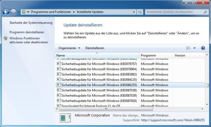 Windows 7: Hier deinstalliert ihr das Update