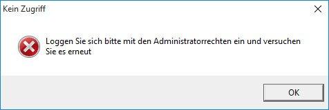 Windows: Das Spiel startet nicht und zeigt die Fehlermeldung an, man solle es mit Administratorrechten erneut versuchen.