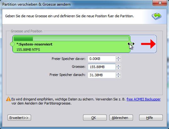 Lösung für Windows 10: System reservierte Partition konnte