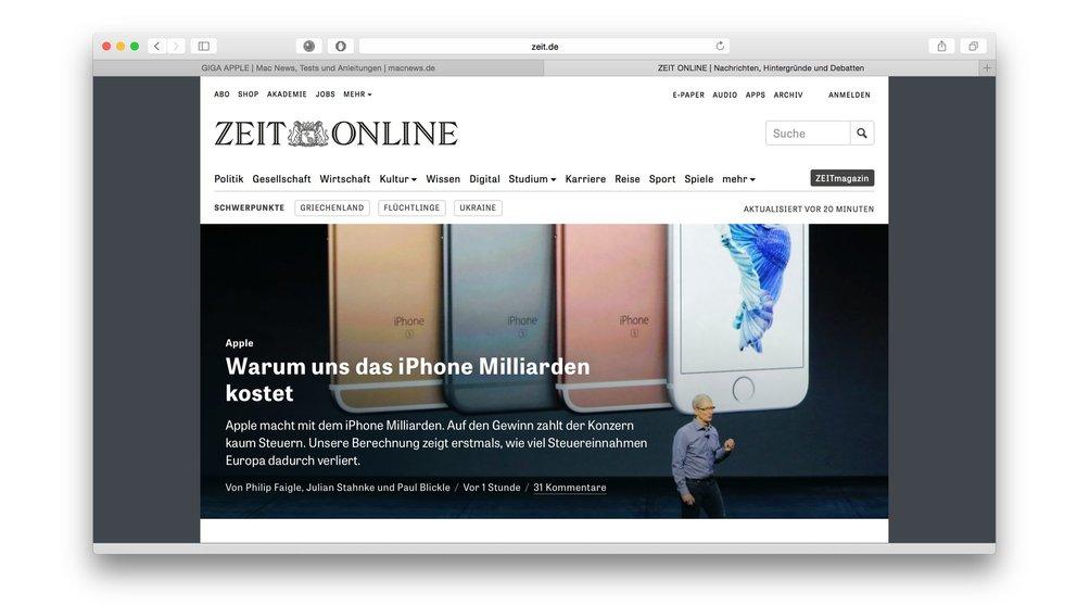 """Zum Verkaufsstart des iPhone 6s: Die """"Milliarden-Geschenke"""" Europas an Apple"""