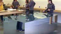 Apple Store: Außergewöhnliche Tische werben für 3D Touch im neuen iPhone