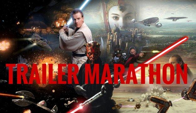 Ich habe mir gerade alle alten Star Wars-Trailer noch einmal angesehen und es war toll!