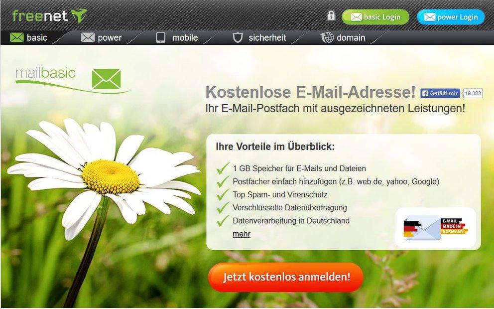 Freenet-Login: Anmelden und kostenlose Email-Adresse bei