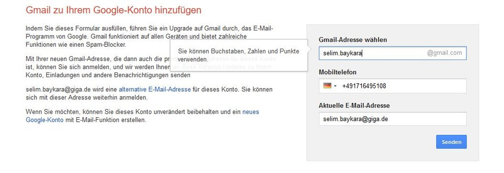 Gmail Registrieren