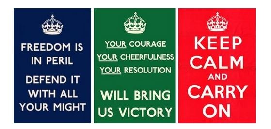 Keep Calm War Poster