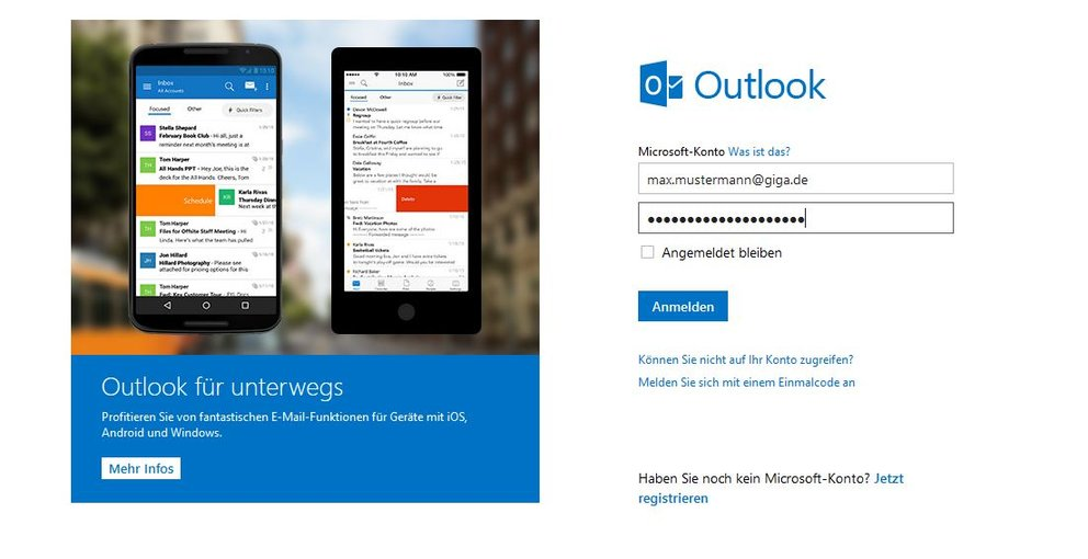 Outlook Login Anmelden