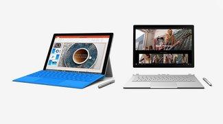 Surface Pro 4 und Book: Juni-Firmware-Updates sollen Laufzeit erhöhen