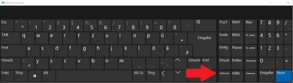 Ich möchte die Bildschirmtastatur nur manuell einschalten können
