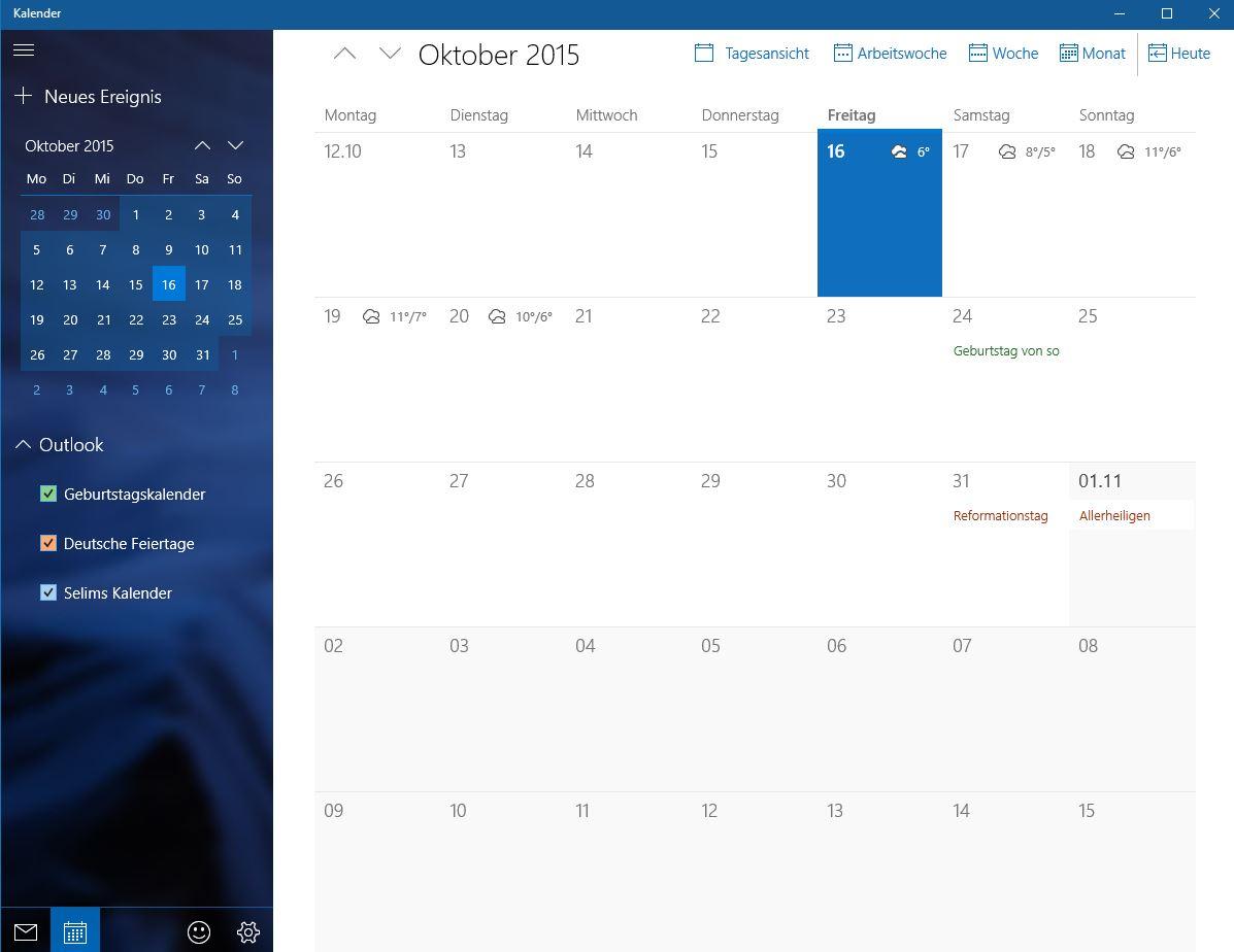 Windows Kalender