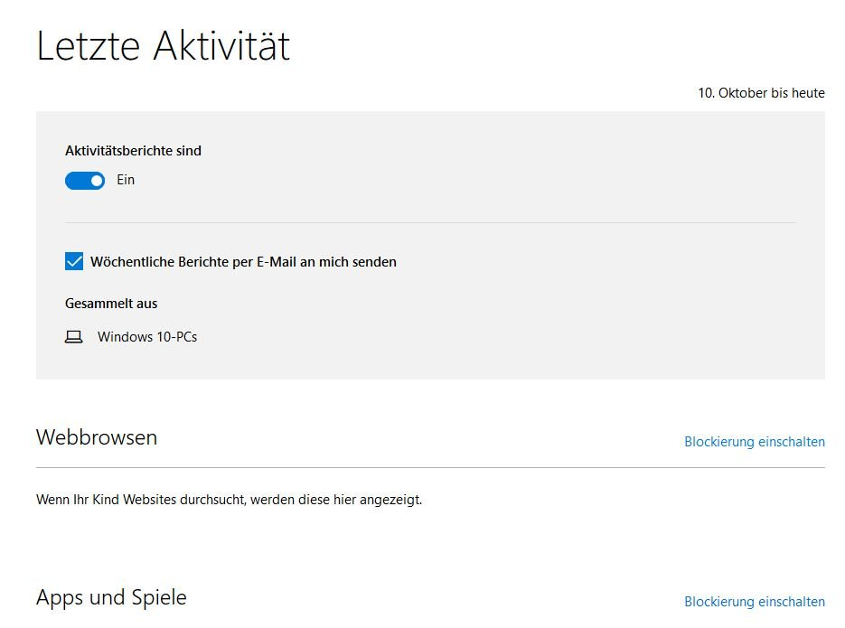 Windows 10 Kindersicherung Online